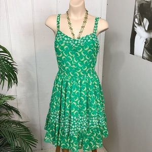 LC Lauren Conrad floral green summer dress size 8